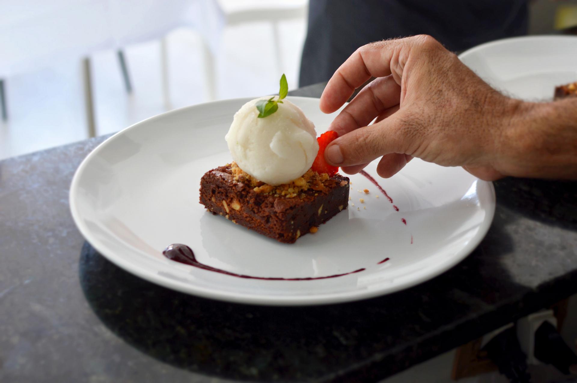 Foto: prato de sobremesa Restaurante Du Chef, em Salvador.